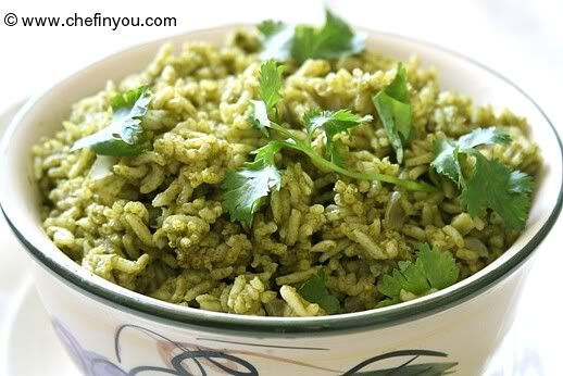 Arroz Verde (Mexican Green Rice Recipe) [TRIED 8.18.12 - made as a ...