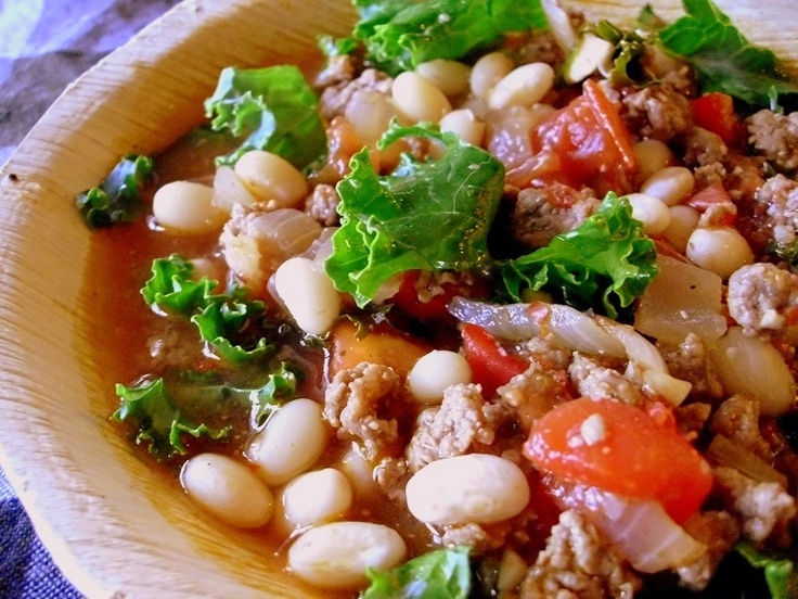 Spicy White Bean, Beef & Amaranth Soup With Tomatoes & Kale Recipe ...