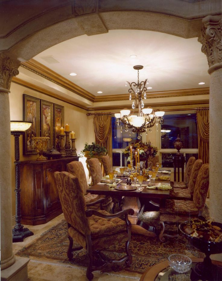 rustic elegant tuscan dining room dream house pinterest