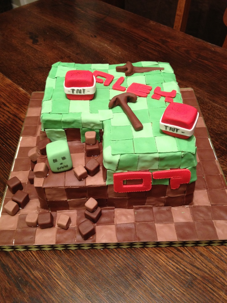 Minecraft Cake Decorations Uk : Online games, Minecraft and Pastel on Pinterest