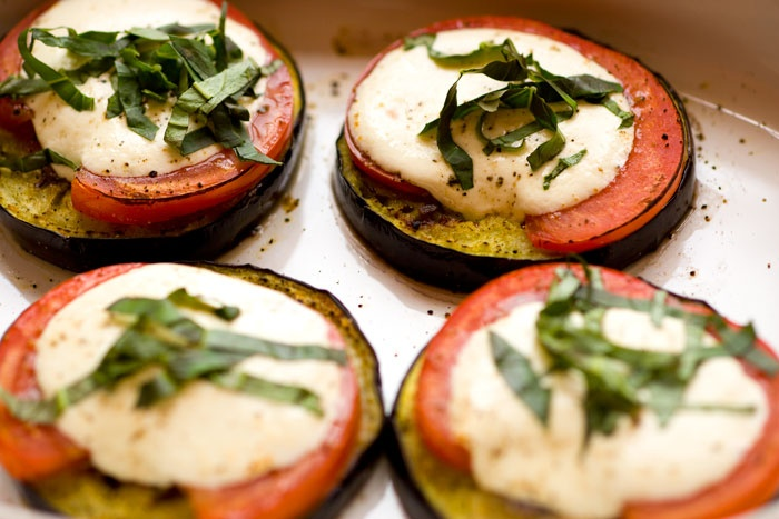Eggplant Caprese....yum (pretty sure I'm never going to be able to ...