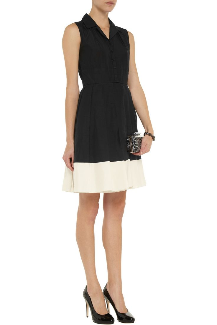 Rochas Woven-silk shirt dress - 65% Off Now at THE OUTNET