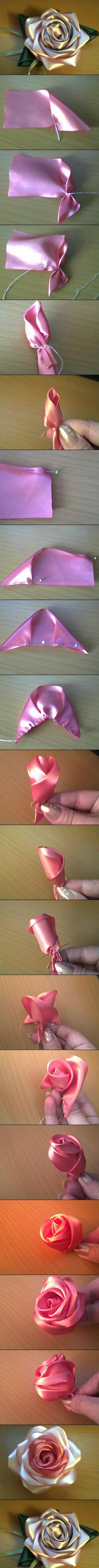 Оборка из атласной ленты или косой бейки. Frill satin ribbon 22