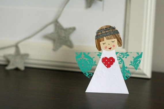 Paper and Clothespin Angel Patterns (PDF)
