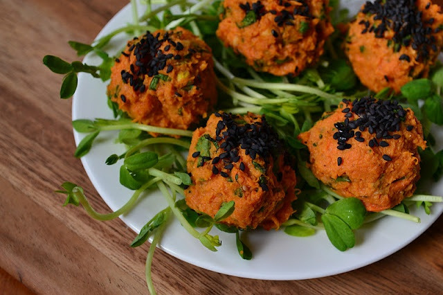 baked sweet potato falafel, need to experiment with different flours ...