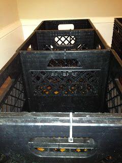 100 Days to Hippie: Day 2 - DIY Milk Crate Bed Frame