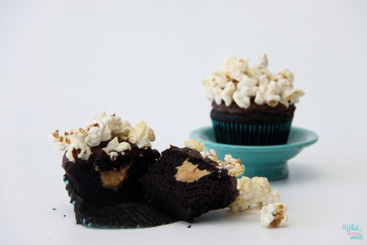 Double Chocolate PB Popcorn Cupcakes The cupcake to cure all cravings ...