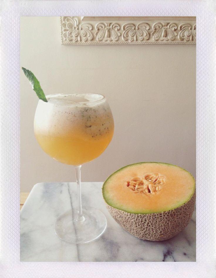 Cantaloupe, basil, and lime Agua Fresca. | NOURISH | Pinterest
