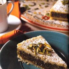 Semolina Pistachio Layer Cake (Bohsalini)
