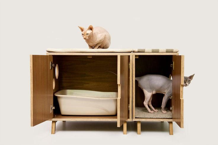 Modular cabinet set mid century modern pet furniture cat litter box cover pet house - Modern cat litter box furniture ...