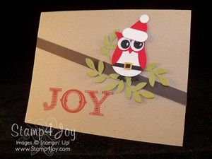 Making christmas cards owl paper piecing card ideas pinterest