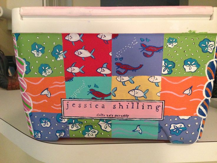 Vineyard vines patchwork cooler
