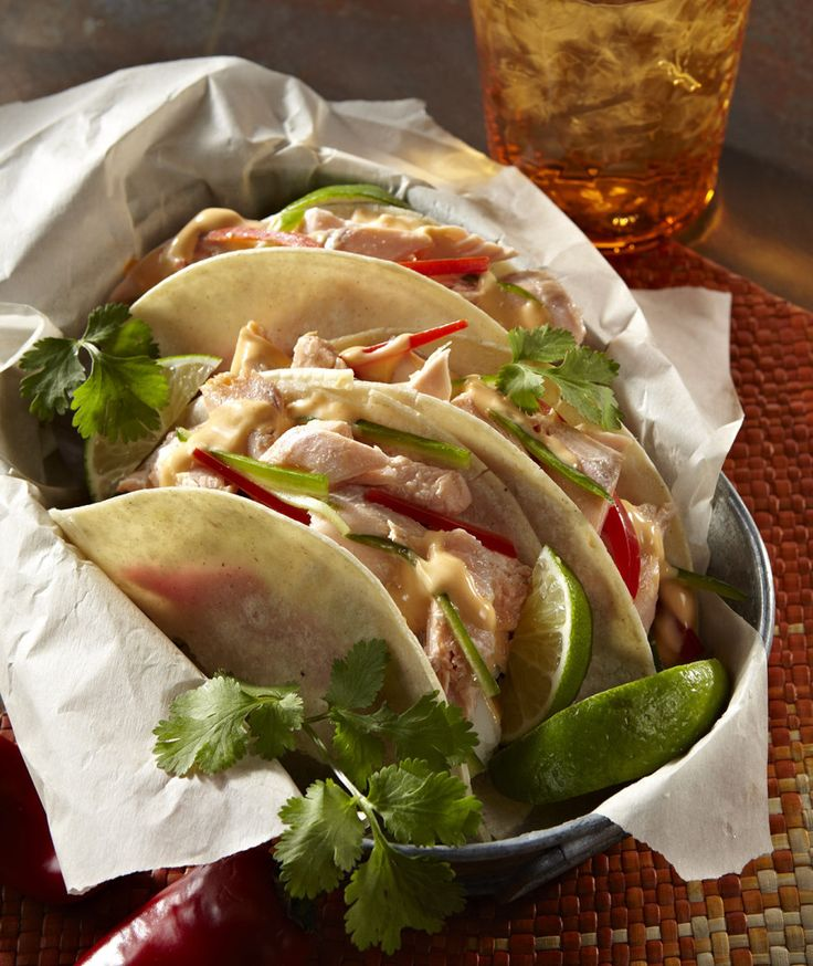 Grilled Fish Tacos with Chipotle Sauce | Food/drinks | Pinterest