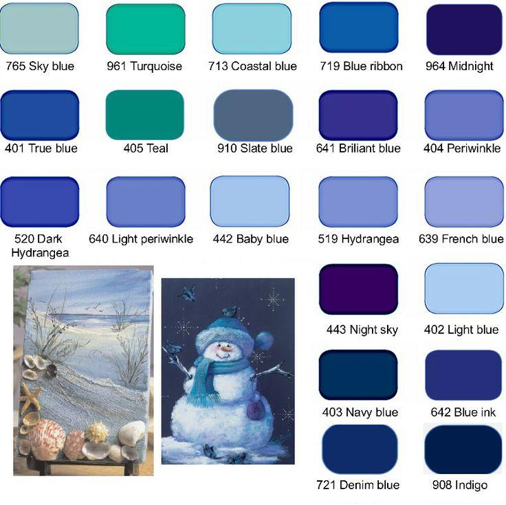 Nuancier de bleu the word in blue pinterest - Nuancier de bleu peinture ...