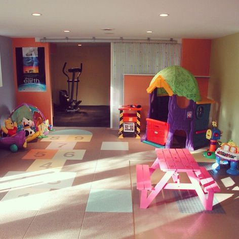 Garage playroom ideas for the home pinterest for Playroom living room ideas