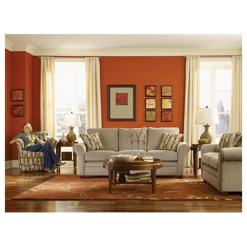 orange accent wall for the home pinterest