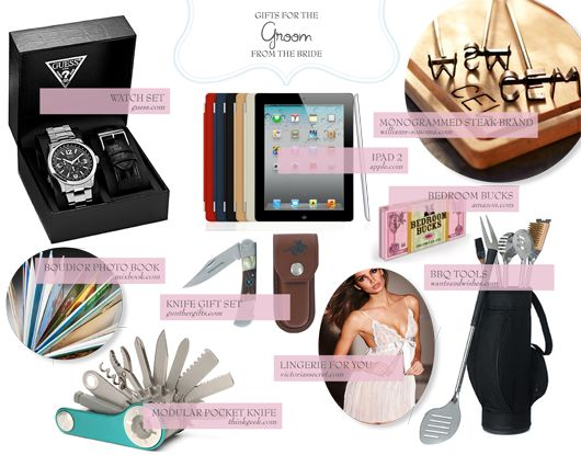 Great Gift Ideas From Groom To Bride : Groom gift ideas...such good ideas! Dream Wedding