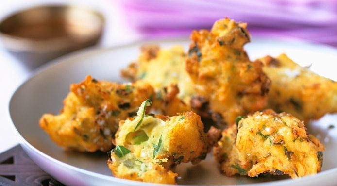 Chickpea Fritters With Yogurt Sauce Recipes — Dishmaps