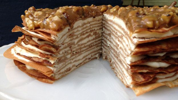 More like this: banana crepes , butterscotch and crepe cake .