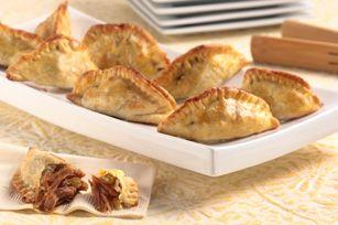 Curried Pork Empañadas Recipe - Kraft Recipes (skip the raisins)