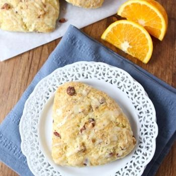scones with orange zest, orange juice, almonds, and a sweet orange ...