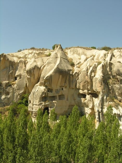 Göreme National Park and the Rock Sites of Cappadocia-  In a spectacular landscape, entirely sculpted by erosion, the Göreme valley and its surroundings contain rock-hewn sanctuaries that provide unique evidence of Byzantine art in the post-Iconoclastic period. Dwellings, troglodyte villages and underground towns – the remains of a traditional human habitat dating back to the 4th century – can also be seen there.