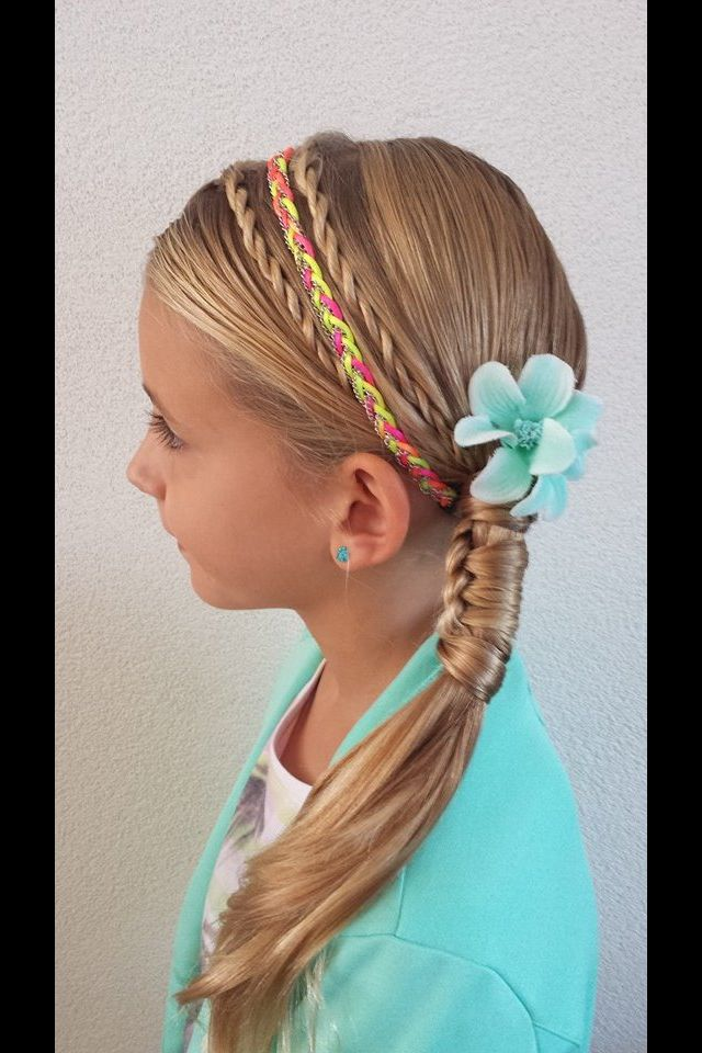 Wonderful Little Girls Hairstyle Ponytail With Blunt Bangs Pictures To Pin On
