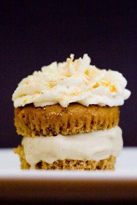 Maple Cinnamon Peach Ice Cream Cupcakes | Cupcake Project