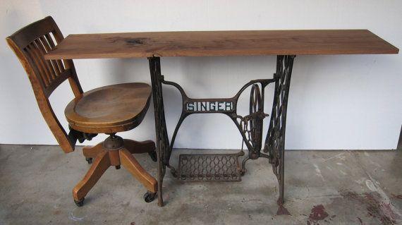 Vintage Singer Sewing (Computer) Desk