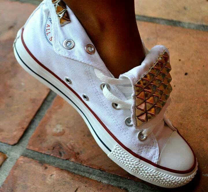 love cute shoes converse with studs in front and the back #flowear