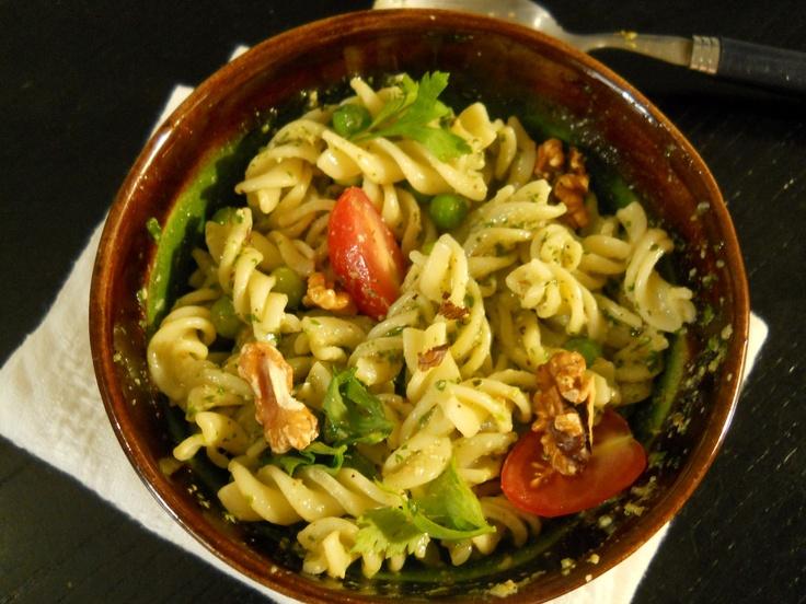 Pasta Salad with Pesto and Peas | food :: salads | Pinterest