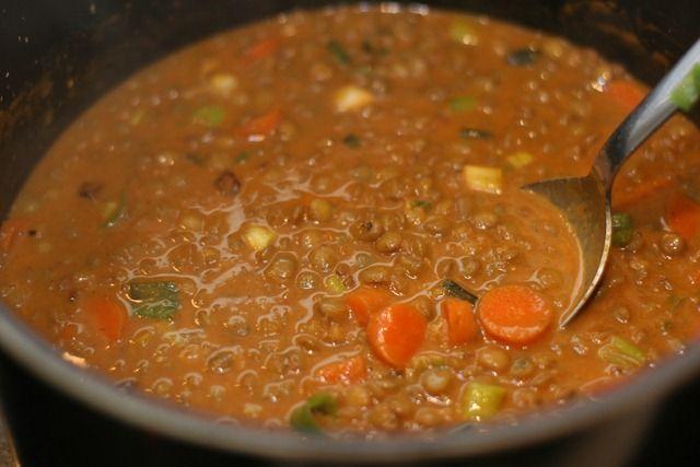 Coconut Red Lentil Soup | Soup Recipes | Pinterest