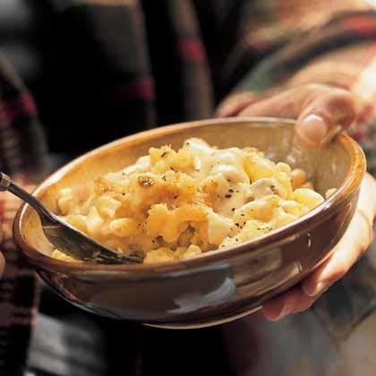 Macaroni and Four Cheeses Four cheeses–Swiss, Parmesan, Gorgonzola ...