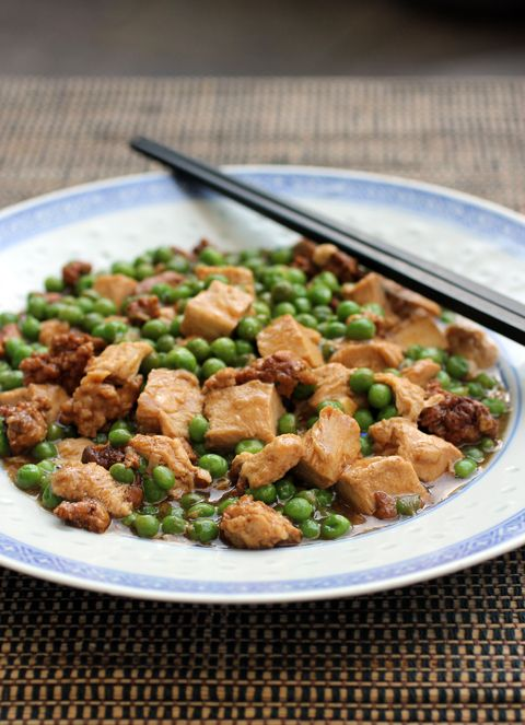 ... be stir-fry of tofu, ground pork and peas. Perfect over steamed rice
