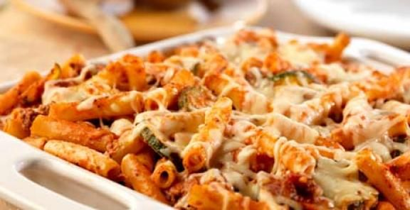 Cheese Mostaccioli Bolognese | KitchenDaily.com