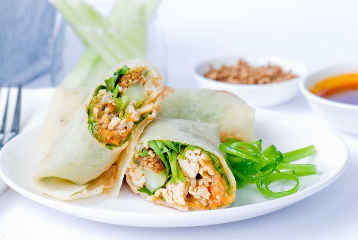 Vegetarian Spring Rolls - Popiah | Vegetarian | Pinterest
