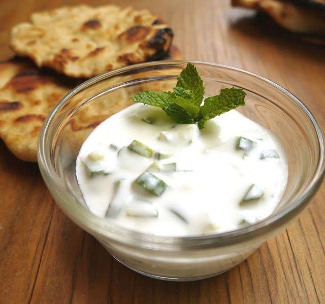 Grilled Lamb Shawarma with Cucumber Mint Yogurt Salad