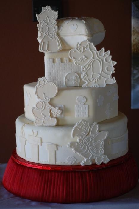 White Mario Wedding Cake Nerd Wedding Pinterest