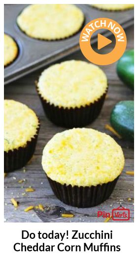 Zucchini Cheddar Corn Muffins... These savory muffins go great with ...