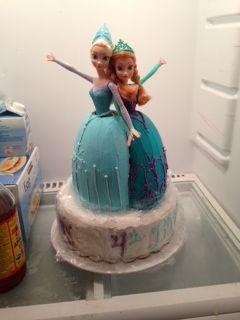Frozen. Elsa & Anna cake. Birthday cake