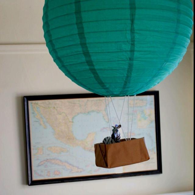 Paper Lantern Hot Air Balloon Mobile Baby Mobiles