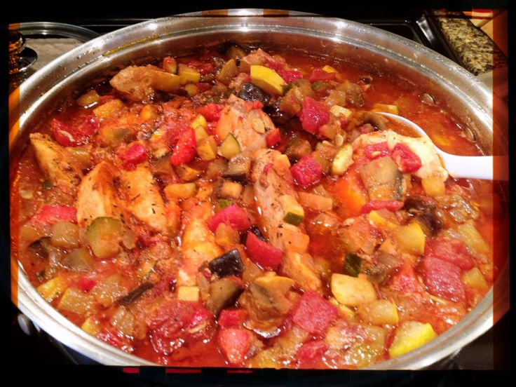 Ratatouille with sautéed/ browned chicken breast (from The 10 Day ...
