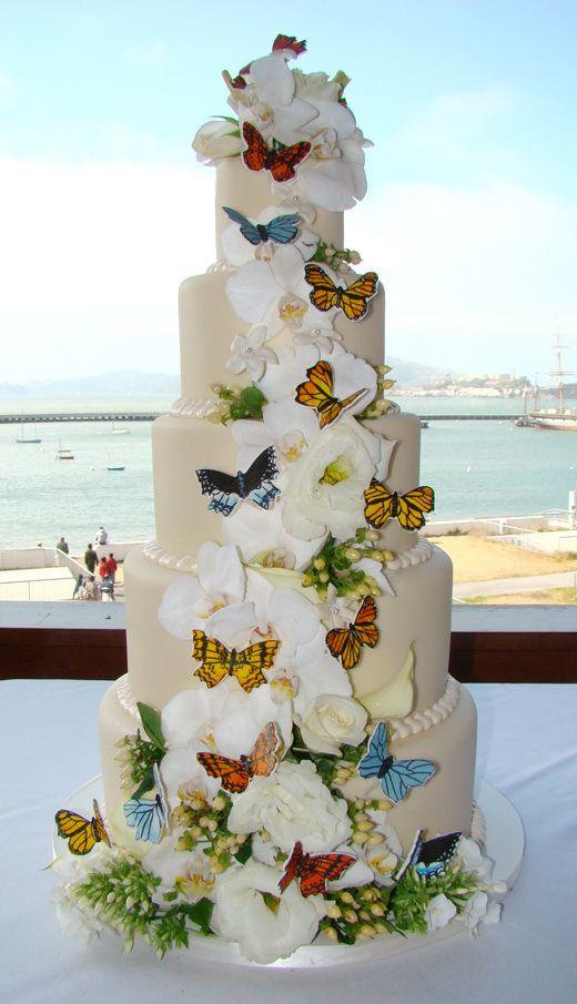 Butterfly wedding cake edible art pinterest for Butterfly wedding