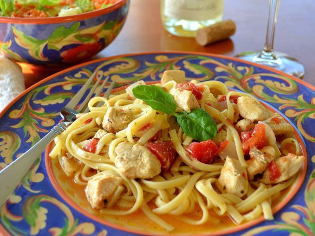 Chicken And Pasta In White Wine Garlic Sauce Recipe - Food.com