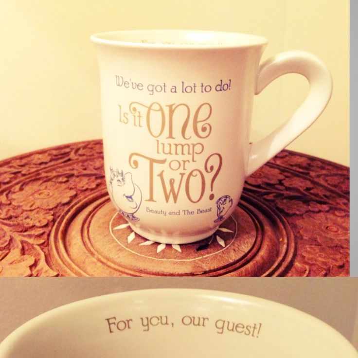 Disney Beauty And The Beast Mug From Hallmark Store Tea