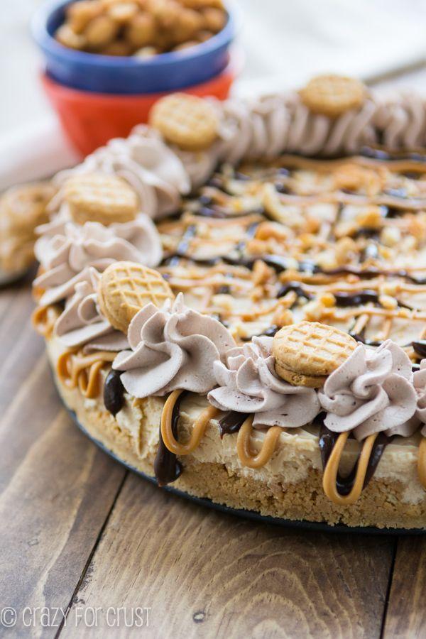 No Bake Frozen Peanut Butter Cheesecake (nutter butter crust) | Recipe