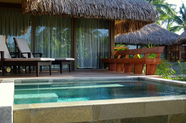 Intercontinental tahiti bungalow rachael edwards for Garden pool bungalow intercontinental moorea