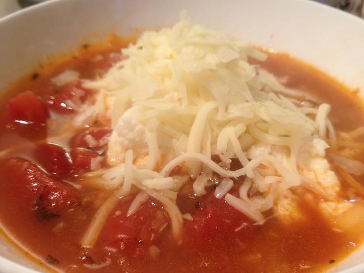 Spaghetti Squash Lasagna Soup! | Healthy fixins' | Pinterest