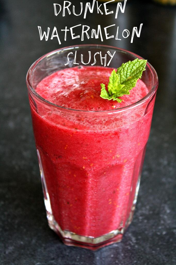 Drunken Watermelon Slushy. | *Cocktails Etc. | Pinterest