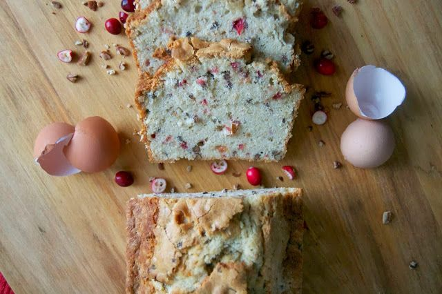 Pumpkin Spice Cranberry Pecan Pound Cake and a Giveaway!